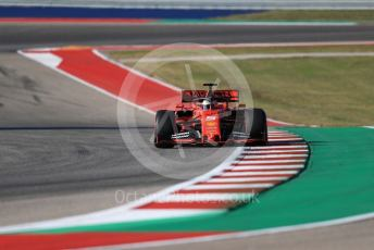 World © Octane Photographic Ltd. Formula 1 – United States GP - Quailfying. Scuderia Ferrari SF90 – Sebastian Vettel. Circuit of the Americas (COTA), Austin, Texas, USA. Saturday 2nd November 2019.