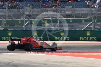 World © Octane Photographic Ltd. Formula 1 – United States GP - Quailfying. Scuderia Ferrari SF90 – Charles Leclerc. Circuit of the Americas (COTA), Austin, Texas, USA. Saturday 2nd November 2019.