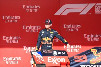 World © Octane Photographic Ltd. Formula 1 – United States GP - Parc Ferme. Aston Martin Red Bull Racing RB15 – Max Verstappen. Circuit of the Americas (COTA), Austin, Texas, USA. Sunday 3rd November 2019.