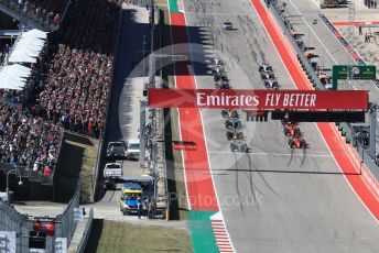 World © Octane Photographic Ltd. Formula 1 – United States GP - Race. Mercedes AMG Petronas Motorsport AMG F1 W10 EQ Power+ - Valtteri Bottas heads the grid. Circuit of the Americas (COTA), Austin, Texas, USA. Sunday 3rd November 2019.
