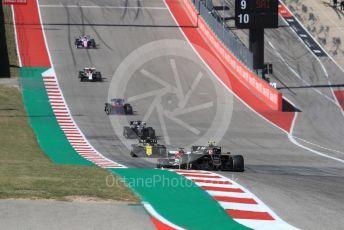 World © Octane Photographic Ltd. Formula 1 – United States GP - Race. Haas F1 Team VF19 – Kevin Magnussen and Alfa Romeo Racing C38 – Kimi Raikkonen. Circuit of the Americas (COTA), Austin, Texas, USA. Sunday 3rd November 2019.
