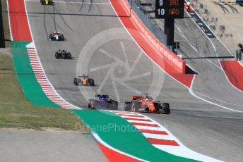 World © Octane Photographic Ltd. Formula 1 – United States GP - Race. Scuderia Ferrari SF90 – Sebastian Vettel and Scuderia Toro Rosso STR14 – Pierre Gasly. Circuit of the Americas (COTA), Austin, Texas, USA. Sunday 3rd November 2019.