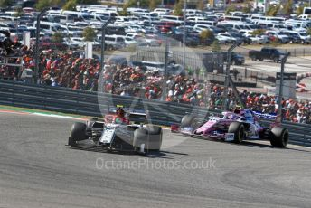World © Octane Photographic Ltd. Formula 1 – United States GP - Race. Alfa Romeo Racing C38 – Antonio Giovinazzi and SportPesa Racing Point RP19 – Lance Stroll. Circuit of the Americas (COTA), Austin, Texas, USA. Sunday 3rd November 2019.