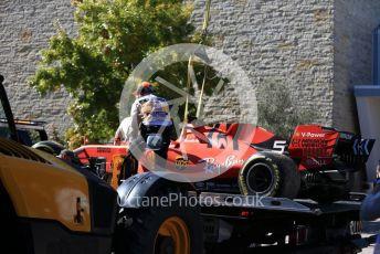World © Octane Photographic Ltd. Formula 1 – United States GP - Race. Scuderia Ferrari SF90 – Sebastian Vettel retires. Circuit of the Americas (COTA), Austin, Texas, USA. Sunday 3rd November 2019.