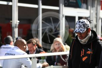 World © Octane Photographic Ltd. Formula 1 – United States GP - Paddock. Mercedes AMG Petronas Motorsport AMG F1 W10 EQ Power+ - Lewis Hamilton. Circuit of the Americas (COTA), Austin, Texas, USA. Saturday 2nd November 2019.
