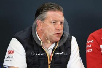 World © Octane Photographic Ltd. Formula 1 - United States GP – Friday FIA Team Press Conference. Zak Brown - Executive Director of McLaren Technology Group. Circuit of the Americas (COTA), Austin, Texas, USA. Friday 1st November 2019.