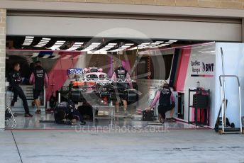 World © Octane Photographic Ltd. Formula 1 – United States GP - Pit Lane. SportPesa Racing Point RP19 - Sergio Perez. Circuit of the Americas (COTA), Austin, Texas, USA. Thursday 31st October 2019.