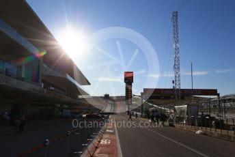 World © Octane Photographic Ltd. Formula 1 – United States GP - Pit Lane. Circuit of the Americas (COTA), Austin, Texas, USA. Thursday 31st October 2019.