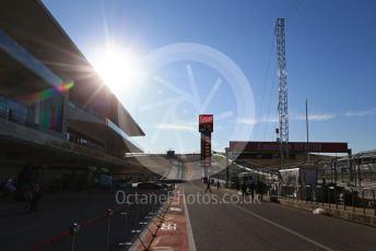World © Octane Photographic Ltd. Formula 1 – United States GP - Pit Lane. Circuit of the Americas (COTA), Austin, Texas, USA. Thursday 31st October 2019.