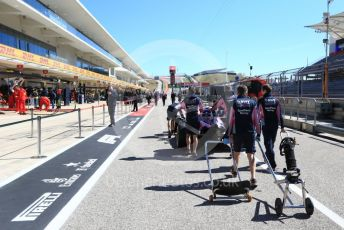 World © Octane Photographic Ltd. Formula 1 – United States GP - Pit Lane. SportPesa Racing Point RP19. Circuit of the Americas (COTA), Austin, Texas, USA. Thursday 31st October 2019.