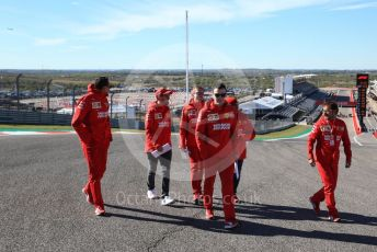 World © Octane Photographic Ltd. Formula 1 – United States GP - Track Walk. Scuderia Ferrari SF90 – Sebastian Vettel. Circuit of the Americas (COTA), Austin, Texas, USA. Thursday 31st October 2019.