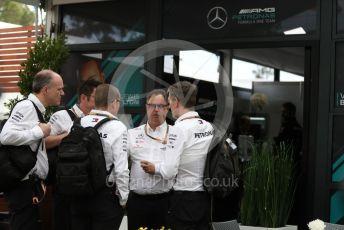 World © Octane Photographic Ltd. Formula 1 – F1 Australian Grand Prix breakdown. James Allison - Technical Director of Mercedes - AMG Petronas Motorsport and team ready to leave. Melbourne, Australia. Friday 13th March 2020.