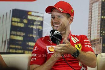 World © Octane Photographic Ltd. Formula 1 – F1 Australian Grand Prix - FIA drivers' press conference. Scuderia Ferrari SF1000 – Sebastian Vettel. Melbourne, Australia. Thursday 12th March 2020.