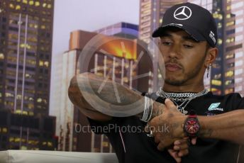 World © Octane Photographic Ltd. Formula 1 – F1 Australian Grand Prix - FIA drivers' press conference. Mercedes AMG Petronas F1 W11 EQ Performance - Lewis Hamilton. Melbourne, Australia. Thursday 12th March 2020.