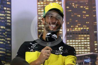 World © Octane Photographic Ltd. Formula 1 – F1 Australian Grand Prix - FIA drivers' press conference. Renault DP World F1 Team RS20 – Daniel Ricciardo. Melbourne, Australia. Thursday 12th March 2020.