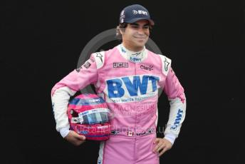 World © Octane Photographic Ltd. Formula 1 – F1 Australian Grand Prix - FIA photocall. BWT Racing Point F1 Team RP20 – Lance Stroll. Melbourne, Australia. Thursday 12th March 2020.