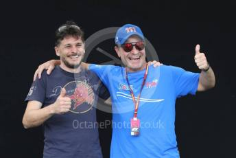 World © Octane Photographic Ltd. Formula 1 – F1 Australian Grand Prix - FIA photocall. Rubens Barrichello and Giancarlo Fisichella. Melbourne, Australia. Thursday 12th March 2020.
