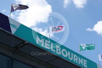 World © Octane Photographic Ltd. Formula 1 – F1 Australian Grand Prix . Melbourne flags . Melbourne, Australia. Wednesday 11th March 2020.