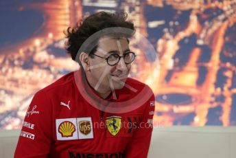 World © Octane Photographic Ltd. Formula 1 – F1 Pre-season Test 2 - Day 1 - Press Conference 2. Mattia Binotto – Team Principal of Scuderia Ferrari. Circuit de Barcelona-Catalunya, Spain. Wednesday 26th February 2020.