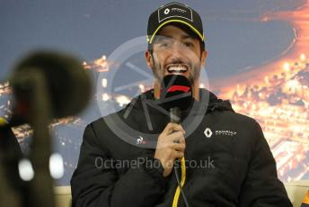 World © Octane Photographic Ltd. Formula 1 – F1 Pre-season Test 2 - Day 1 - Press Conference 1. Renault Sport F1 Team – Daniel Ricciardo. Circuit de Barcelona-Catalunya, Spain. Wednesday 26th February 2020.