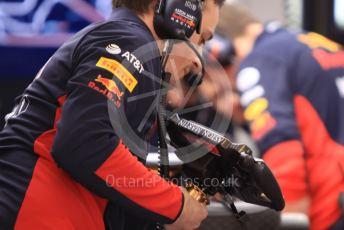 World © Octane Photographic Ltd. Formula 1 – F1 Pre-season Test 1 - Day 3. Aston Martin Red Bull Racing RB16 – Alexander Albon using Max Verstappen's steering wheel. Circuit de Barcelona-Catalunya, Spain. Friday 21st February 2020.