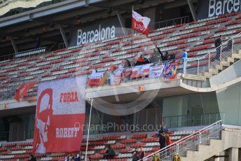 World © Octane Photographic Ltd. Formula 1 – F1 Pre-season Test 2 - Day 1. Robert Kubica fans. Circuit de Barcelona-Catalunya, Spain. Wednesday 26th February 2020.