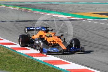 World © Octane Photographic Ltd. Formula 1 – F1 Pre-season Test 2 - Day 1. McLaren MCL35 – Lando Norris. Circuit de Barcelona-Catalunya, Spain. Wednesday 26th February 2020.