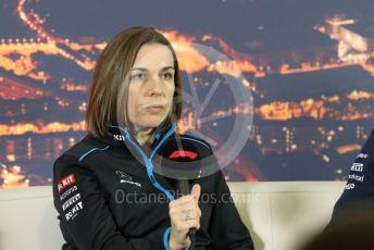 World © Octane Photographic Ltd. Formula 1 – F1 Pre-season Test 2 - Day 2 - Press Conference. Claire Williams - Deputy Team Principal of ROKiT Williams Racing. Circuit de Barcelona-Catalunya, Spain. Thursday 27th February 2020.
