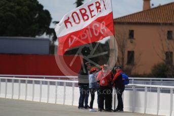 World © Octane Photographic Ltd. Formula 1 – F1 Pre-season Test 2 - Day 2. Robert Kubica fans. Circuit de Barcelona-Catalunya, Spain. Thursday 27th February 2020.