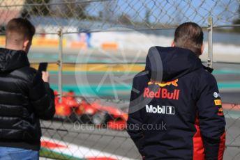 World © Octane Photographic Ltd. Formula 1 – F1 Pre-season Test 2 - Day 2. Jos Verstappen watching Sebastian Vettel. Circuit de Barcelona-Catalunya, Spain. Thursday 27th February 2020.