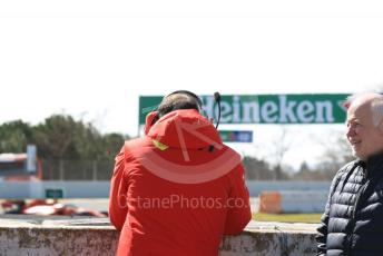 World © Octane Photographic Ltd. Formula 1 – F1 Pre-season Test 2 - Day 2. Norbert Vettel and Marc Gene watching Sebastian Vettel. Circuit de Barcelona-Catalunya, Spain. Thursday 27th February 2020.