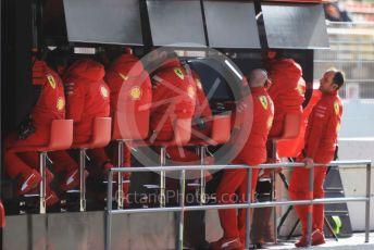 World © Octane Photographic Ltd. Formula 1 – F1 Pre-season Test 2 - Day 2. Scuderia Ferrari technical team on pit wall. Circuit de Barcelona-Catalunya, Spain. Thursday 27th February 2020.