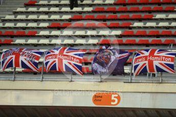 World © Octane Photographic Ltd. Formula 1 – F1 Pre-season Test 2 - Day 2. Lewis Hamilton fans. Circuit de Barcelona-Catalunya, Spain. Thursday 27th February 2020.