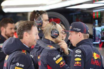World © Octane Photographic Ltd. Formula 1 – F1 Pre-season Test 2 - Day 2. Aston Martin Red Bull Racing RB16 – Max Verstappen and Christian Horner - Team Principal of Red Bull Racing. Circuit de Barcelona-Catalunya, Spain. Thursday 27th February 2020.