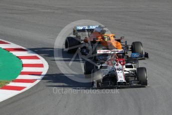 World © Octane Photographic Ltd. Formula 1 – F1 Pre-season Test 2 - Day 2. Alfa Romeo Racing Orlen C39 – Antonio Giovinazzi and McLaren MCL35 – Lando Norris. Circuit de Barcelona-Catalunya, Spain. Thursday 27th February 2020.