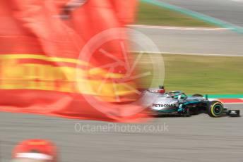 World © Octane Photographic Ltd. Formula 1 – F1 Pre-season Test 2 - Day 3. Mercedes AMG Petronas F1 W11 EQ Performance - Lewis Hamilton and Ferrari flag. Circuit de Barcelona-Catalunya, Spain. Friday 28th February 2020.