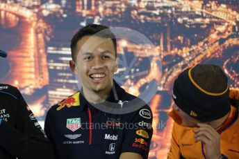 World © Octane Photographic Ltd. Formula 1 – F1 Pre-season Test 1 - Day 1. FIA Press Conference. Aston Martin Red Bull Racing – Alexander Albon. Circuit de Barcelona-Catalunya, Spain. Wednesday 19th February 2020.
