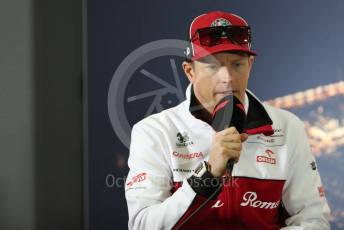 World © Octane Photographic Ltd. Formula 1 – F1 Pre-season Test 1 - Day 1. FIA Press Conference. Alfa Romeo Racing Orlen – Kimi Raikkonen. Circuit de Barcelona-Catalunya, Spain. Wednesday 19th February 2020.