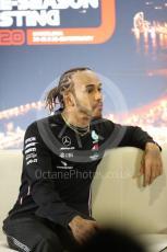 World © Octane Photographic Ltd. Formula 1 – F1 Pre-season Test 1 - Day 2 - Press Conference. Mercedes AMG Petronas F1 W11 EQ Performance - Lewis Hamilton. Circuit de Barcelona-Catalunya, Spain. Thursday 20th February 2020.