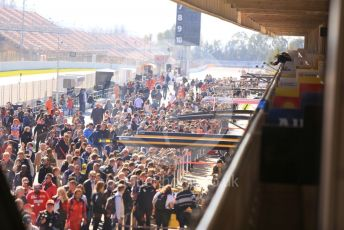 World © Octane Photographic Ltd. Formula 1 – F1 Pre-season Test 1 - Day 2. Fans' pit walk during the lunch break. Circuit de Barcelona-Catalunya, Spain. Thursday 20th February 2020.
