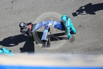 World © Octane Photographic Ltd. Formula 1 – F1 Pre-season Test 1 - Day 2. Mercedes AMG Petronas F1 pit crew changing a nose. Circuit de Barcelona-Catalunya, Spain. Thursday 20th February 2020.