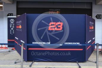 World © Octane Photographic Ltd. Formula 1 – F1 Pre-season Test 1 - Day 2. Aston Martin Red Bull Racing screens. Circuit de Barcelona-Catalunya, Spain. Thursday 20th February 2020.
