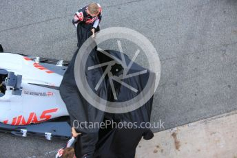 World © Octane Photographic Ltd. Formula 1 – F1 Pre-season Test 1 - Day 1. Haas F1 Team VF20 car launch. Circuit de Barcelona-Catalunya, Spain. Wednesday 19th February 2020.