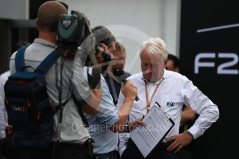 World © Octane Photographic Ltd. Formula 1 - Italian Grand Prix – FIA Formula 2 2018 Car Launch - Charlie Whiting. Monza, Italy. Thursday 31st August 2017. Digital Ref: 1936LB1D0456