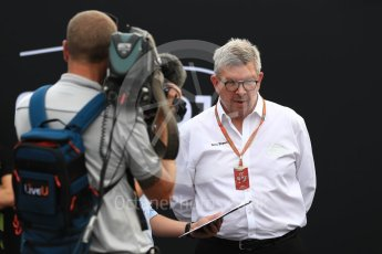 World © Octane Photographic Ltd. Formula 1 - Italian Grand Prix – FIA Formula 2 2018 Car Launch - Ross Brawn. Monza, Italy. Thursday 31st August 2017. Digital Ref: 1936LB1D0460