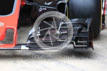 World © Octane Photographic Ltd. Formula 1 winter test 1, Haas F1 Team VF-17 physical unveil, Circuit de Barcelona-Catalunya. Monday 27th February 2017. Digital Ref : 17779LB1D8152