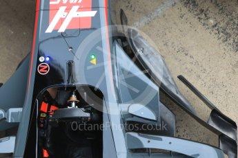 World © Octane Photographic Ltd. Formula 1 winter test 1, Haas F1 Team VF-17 physical unveil Circuit de Barcelona-Catalunya. Monday 27th February 2017. Digital Ref : 1779CB1D5934