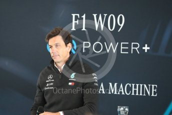 World © Octane Photographic Ltd. Formula 1 –. Mercedes AMG Petronas Motorsport AMG F1 W09 EQ Power+ launch, Toto Wolff (Team Principal and CEO) – Silverstone, UK. Thursday 22nd February 2018. Digital Ref : 2020CB1D7823