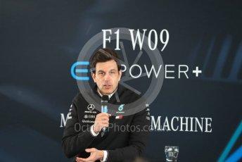 World © Octane Photographic Ltd. Formula 1 –. Mercedes AMG Petronas Motorsport AMG F1 W09 EQ Power+ launch, Toto Wolff (Team Principal and CEO) – Silverstone, UK. Thursday 22nd February 2018. Digital Ref : 2020CB1D7839