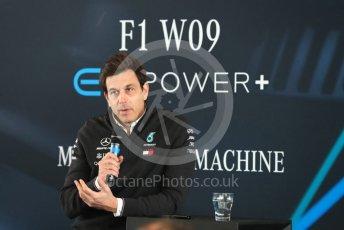 World © Octane Photographic Ltd. Formula 1 –. Mercedes AMG Petronas Motorsport AMG F1 W09 EQ Power+ launch, Toto Wolff (Team Principal and CEO) – Silverstone, UK. Thursday 22nd February 2018. Digital Ref : 2020CB1D7849